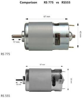 TechDelivers Combo of 775 and 555 DC Motors