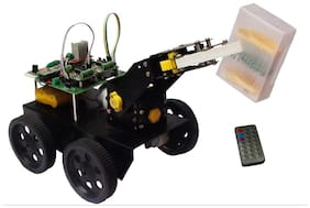 Technology Uncorked Infrared Remote Controlled Octamotion Pick and Place Robot DIY Kit