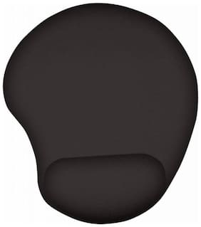 Techvik (Set Of 1) Precise And Comfortable With Wrist, Palm & Forearm Support Standard Size Rubber Based Mouse Pad For Laptop & Computers (Black)