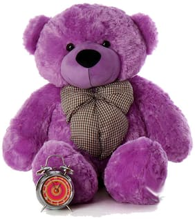 CROCOZILE Purple Teddy Bear - 85 cm