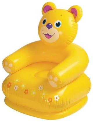 Teddy Shape Chair For Kids Inflatable Fun Sofa For Kids Inflatable Sofa/ Chair (Multi color) Pack of 1