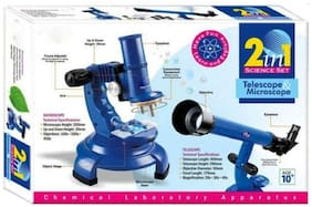 Telescope & Microscope 2 in 1 Science Set  (Multicolor)