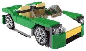 TEMSON Architect Series 3 in 1 Educational Green Super Car Blocks Learning Bricks Toy for Kids (122+ Pcs) (3124)