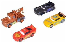 TEMSON Metal Master Cars 4 Die Cast Metal Car with Pull Back Function Pack of 4  (Multicolor)