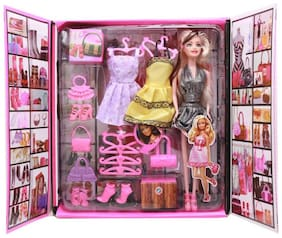 TEMSON Party Girl Doll and lifestyle accessories  (Multicolor)