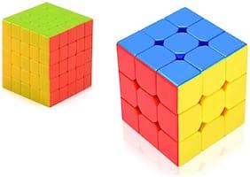 TEMSON Stickerless 5x5 + Sticker Less 3x3 Colors Magic Rubik Cube  (2 Pieces)