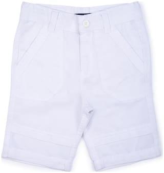 Terry Fator Kids Boys Short;Boys Short;Newborn Baby Short;Infant Baby Clothes;Cotton;White