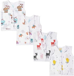 The Boo Boo Club Cotton Printed Top for Unisex Infants - Multi