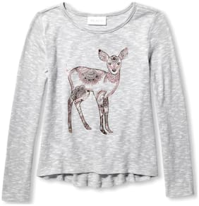 THE CHILDREN'S PLACE Girl Cotton Printed Top - Grey
