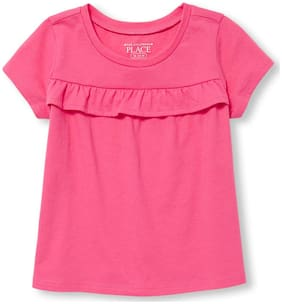 THE CHILDREN'S PLACE Girl Cotton Solid Top - Pink