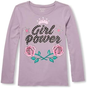 THE CHILDREN'S PLACE Girl Cotton Printed T shirt - Purple