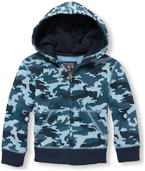 THE CHILDREN'S PLACE Boy Cotton Printed Sweatshirt - Blue