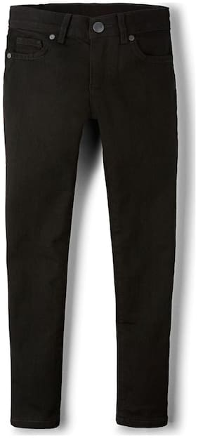 THE CHILDREN'S PLACE Basic Straight fit Jeans for Girls - Black