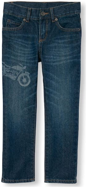 The Children's Place Boys Motorcycle Graphic Distressed Skinny Jeans