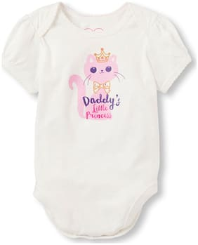 THE CHILDREN'S PLACE Baby girl Cotton Printed Body suit - White