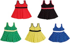 The Creators Cotton Baby Girl Frocks - Pack Of 5