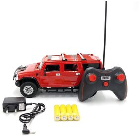 The Flyer's Bay Rechargeable Hummer Style RC Car With Fully Function Doors (1:16 Hummer Style Red)