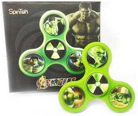 The Incredible Hulk Inspired Green Stress Reducer Fidget Tri-Hand Spinner Toy
