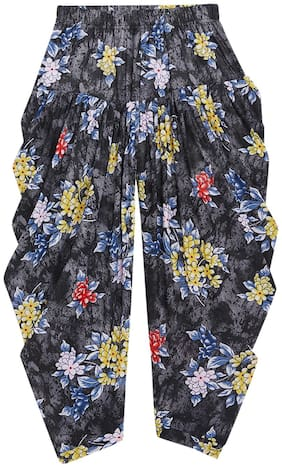 The Pajama Factory Girl Polyester Trousers - Black