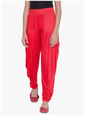 The Pajama Factory Girl Viscose Trousers - Red