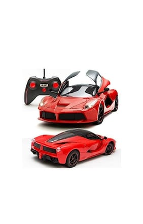 Thelharsa Toys 1:16 Scale Remote Controlled Sports Car Like Model With Openable Doors & Working Led Light (Red)
