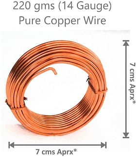 Thermo Pure Copper Soft Wire (bare) For Jewelry Making Hobby Craft Etc 220 gms /14 Gauge