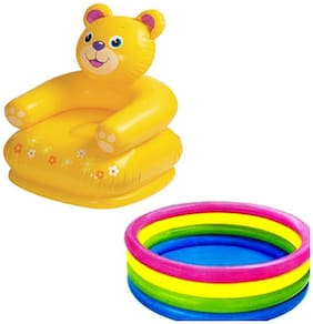 Three 6 Combo Teddy Of Chair And Baby Swimming Pool