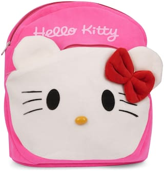 Three Shades Soft Pink Hello Kitty Plush bag Plush Bag  (Pink;White)