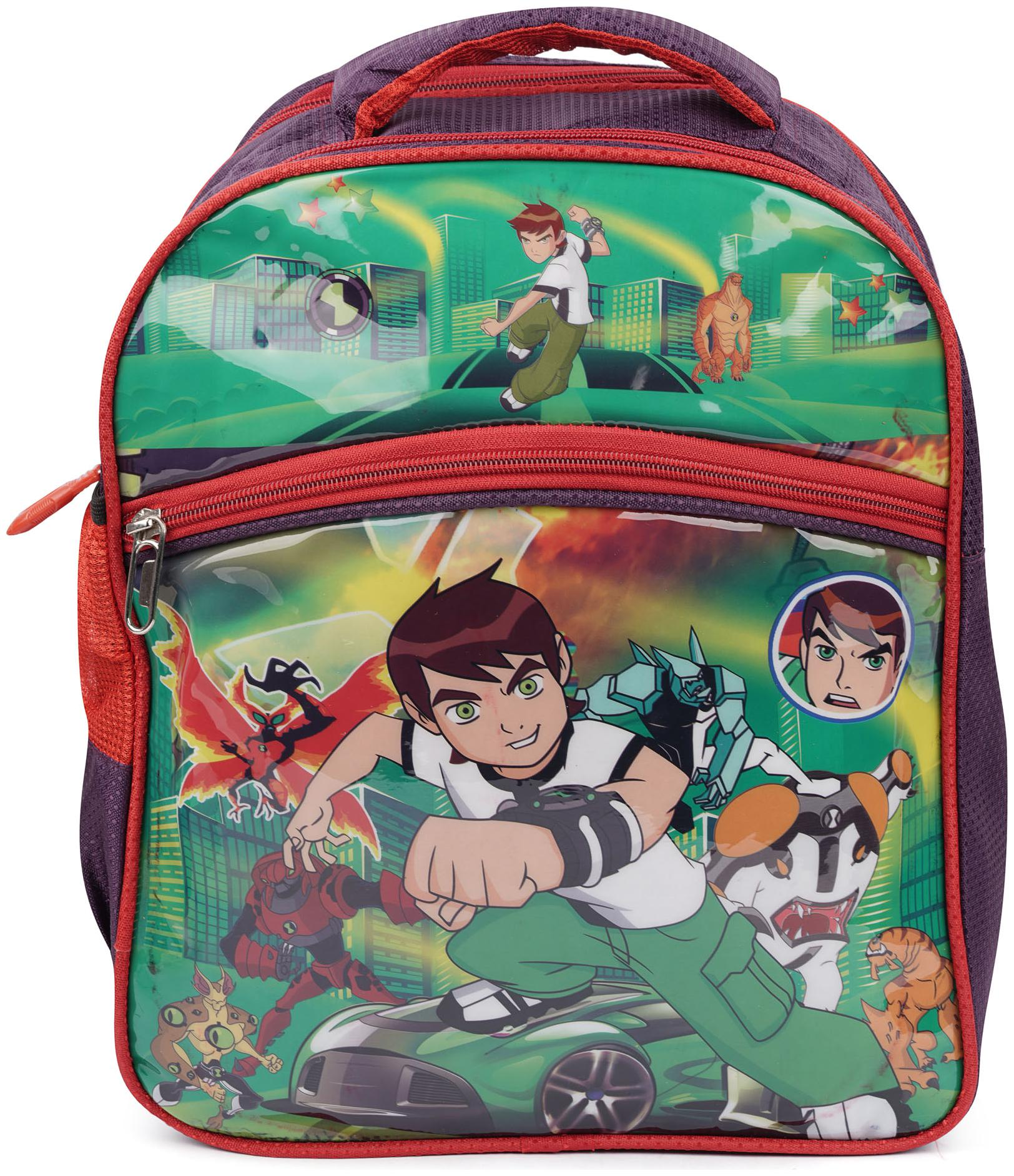 Three Shades School Bag Ben10 Waterproof School Bag   Multi