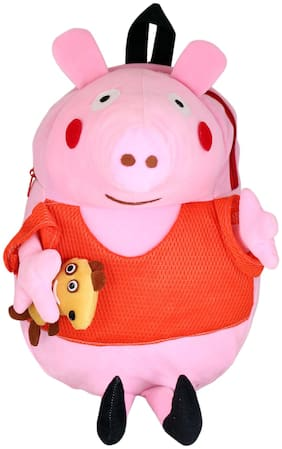 Tickles 12-24 Months Plush Bags For Boys And Girls (Pink;Orange)