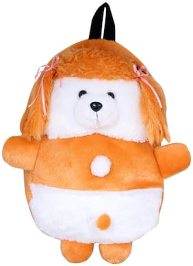 Tickles 12-24 Months Plush Bags For Boys And Girls (White;Orange)