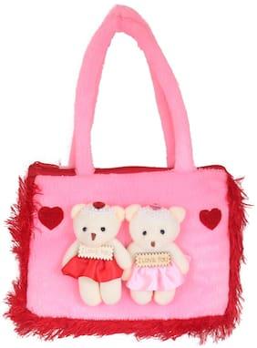 Tickles Beautiful Teddy Hand Purse Bag Hand Purse Bag for Kids Girls 22cm