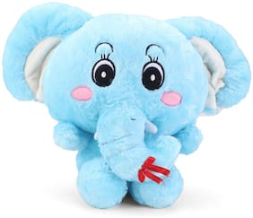 Tickles Blue Gorgeous Big Ear Elephant Stuffed Soft Plush Toy 30 cm