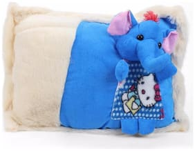 Tickles Blue Cute Elephant Cushion 38 Cm