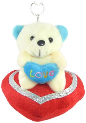 Tickles White Teddy Bear - 11 cm
