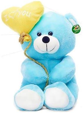 Tickles Blue I Love You Balloon Heart Teddy Stuffed Soft Toy - 18 Cm