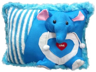 Tickles Blue Elephant Cushion Stuffed Soft Toy - 35 Cm