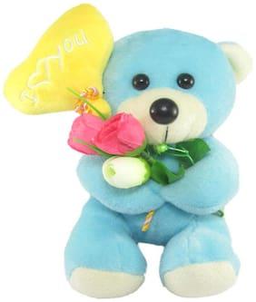 Tickles Blue Teddy Bear - 18 cm