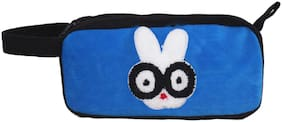 Tickles Blue Pencil Case;Pencil Pouch for Teens Big Capacity Pen Bag with 2 Zipper 25 cm
