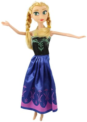 Tickles Blue Anna Frozen doll Toy Love Girl 28 cm