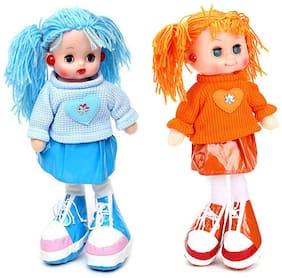 Tickles BlueOrange Smiling Face Doll Stuffed Soft Plush Toy Love Girl 35 cm