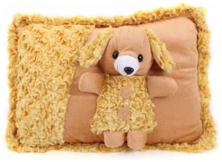 Tickles Brown Soft Toy Cushions- 30 Cm
