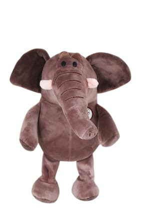 Tickles Brown Super Soft Elephant Stuffed Soft Toy For Kids Infants 25 cm