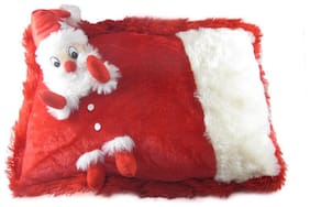 Tickles Chrishmas Santa Claus Cushion Soft Stuffed For Kids 30 cm