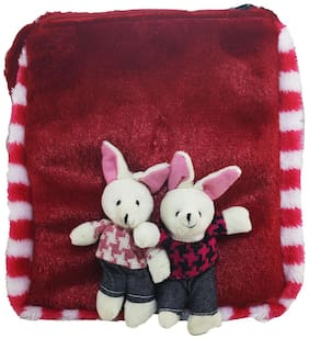 Tickles Couple Rabbit Sling Bag Stuffed Soft Plush Toy Love Girl 25 Cm ( 3 Liters )