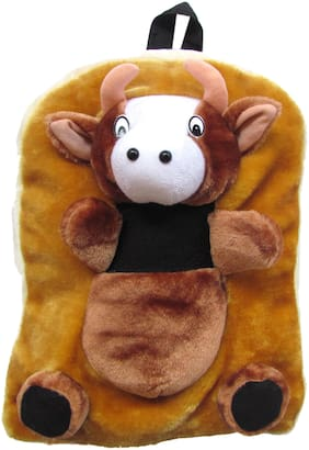 Tickles Cow Bag Soft Toy Plush Kids Birthday Gift  (Brown)