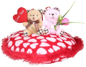 Tickles Cute Loving Couple on Heart Valentine Day Special Gift for Girlfriend Boyfriend Husband Wife 30 cm