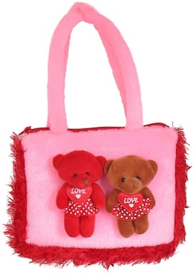 Tickles Cute Teddy Soft Hand Purse Hand Purse Bag for Kids Girls B376 22cm