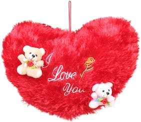 Tickles Cute Teddy on Soft Heart Special Valentine Day Gift 25 cm