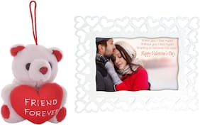 Tickles Friend Forever Teddy and Love Couple Photo Frame Soft Toy Gift Set ()